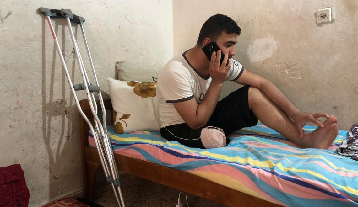"""""""Israel me robó la pierna, no el sueño de competir"""""""